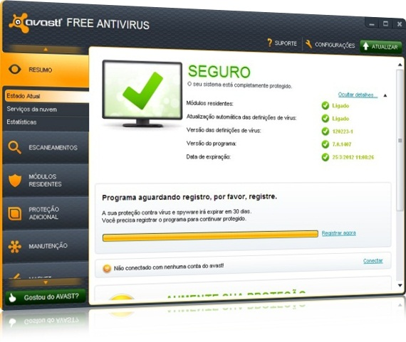 Serial do Avast free antivírus